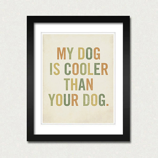 minimalist dog prints home decor
